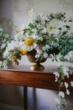 by Nectar and Root, Vermont wedding florist at Shelburne Coach Barn in Shelburne, Vermont.