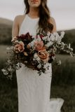 by Nectar and Root, Vermont wedding florist at a backyard wedding in Vermont. bouquet | Nectar & Root Floral Designs Vermont Wedding Flowers